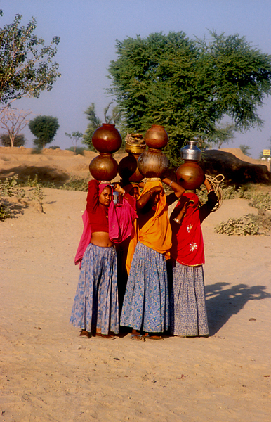 India-Rajasthan-water-carriers